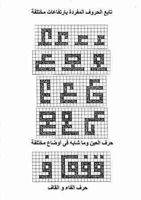 خبرات مصمم الى من يريد ان يتعلم خط الكوفي تربيعي Alphabet Art Print Arabic Calligraphy Design Calligraphy Art Print