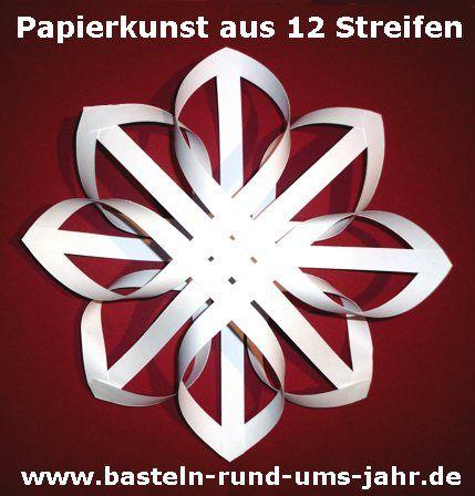 Papierkunst Ein Nostaligischer Stern Aus 12 Streifen