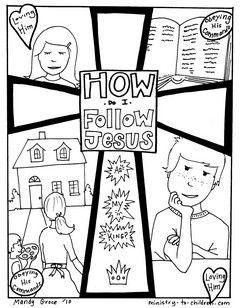 How Do I Follow Jesus Gospel Coloring Page Jesus Coloring Pages Bible Coloring Pages Bible Coloring