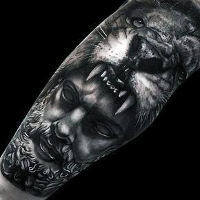 Top 51 Realistic Lion Tattoo Ideas 2020 Inspiration Guide Mythology Tattoos Hercules Tattoo Lion Tattoo Sleeves