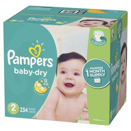 20 Count Pack of 4 Pampers Swaddlers Diapers Total of 80 Pampers Size 1