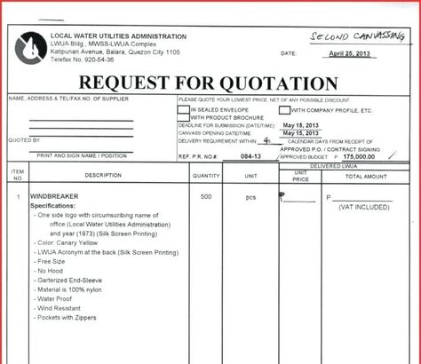 Quotation Request Letter Format Quotations Competitive Quotes