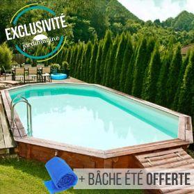 piscine bois kolina 8 53 m x 4 56 m x h
