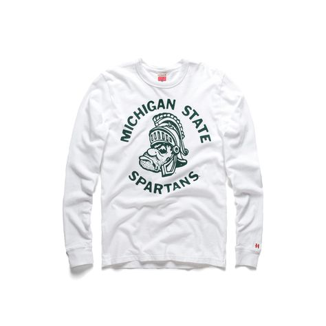 Sparty Crewneck Long Sleeve Tees Michigan State Spartans Michigan State Shirt