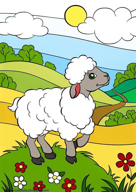 رسومات تلوين حيوانات المزرعة Farm Animals Cute Sheep Farm Animals For Kids Animals For Kids
