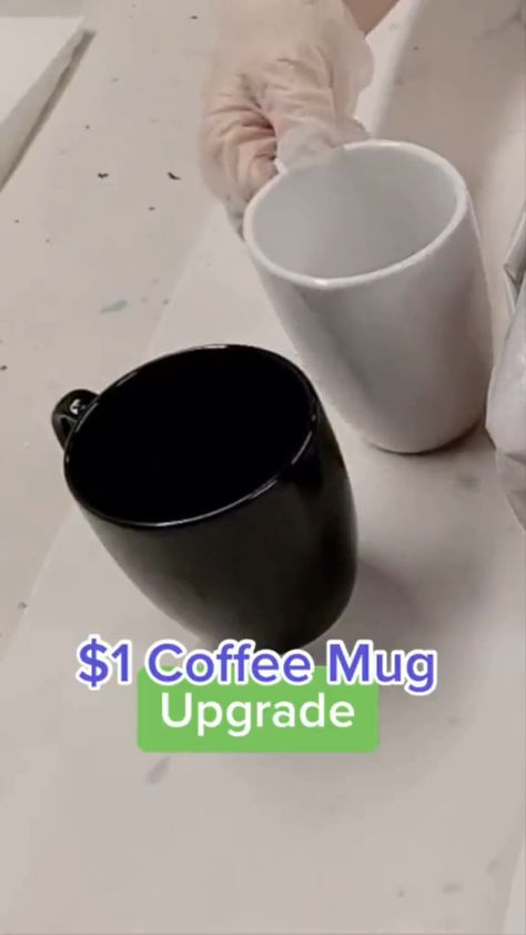 Easy Dollar Store Mugs Makeover DIY