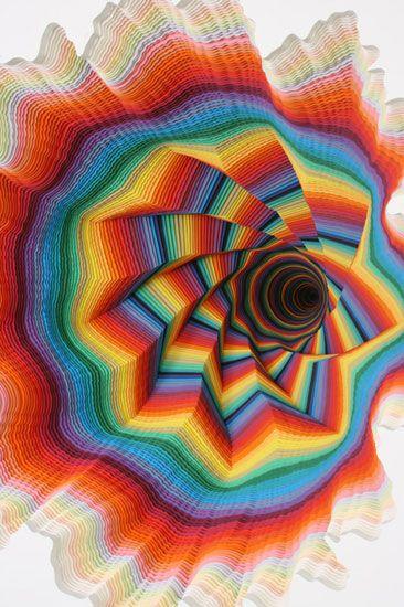Best Jen Stark Images On Pinterest Paper Art Amazing Art - Mesmerising hand crafted paper sculptures jen stark