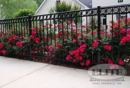 19 Incomparable Front Yard Fencing Black Ideas In 2019 Garden Fencing Aluminum Fence Fence Landscaping Fence