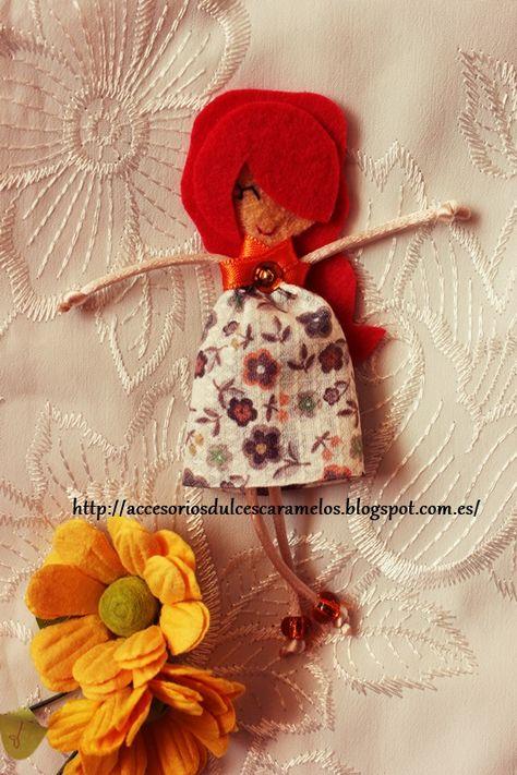 Quecas de Fieltro / Dolls felt Mod42 http://accesoriosdulcescaramelos.blogspot.com.es/search/label/Mu%C3%B1ecas%20%28Quecas%20de%20Fieltro%29