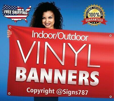 Ad Ebay Url 24 X 60 Custom Vinyl Banner 13oz Full Color Free Online Design Included In 2020 Custom Vinyl Banners Custom Banners Vinyl Banners