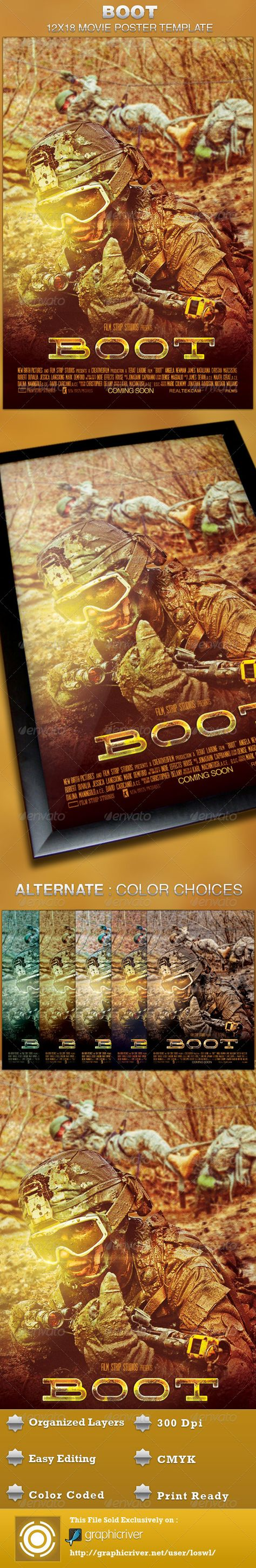 Coming soon movie poster template