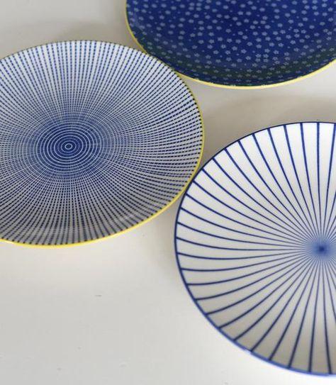 The Forest & Co. - Japanese Dinner Plates Set - Blue/White