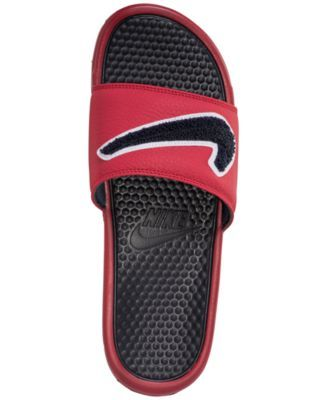 5686836d7d7d86 Nike Men s Benassi Jdi Chenille Slide Sandals from Finish Line - Red ...