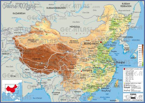 Nice China Travel Map Pdf Tours Maps Illustrierte Karten