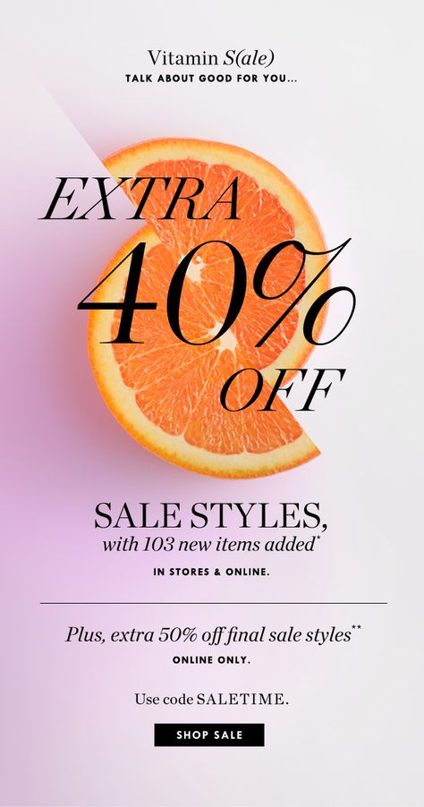 J.Crew: A little vitamin S(ale) to start your day: extra 40%-50% off sale styles | Milled