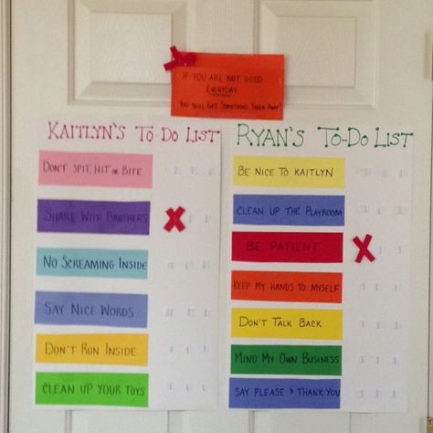 3 Strikes And You Re Out Behavior Charts That I Created For Ryan Kaitlyn