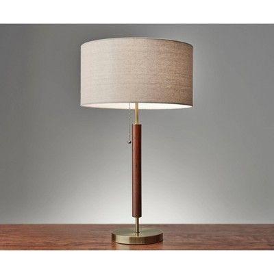Hamilton Collection 26 25 Table Lamp Walnut Adesso In 2020 Table Lamp Brass Table Lamps Lamp