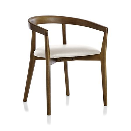 Cullen Shiitake Sand Round Back Dining Chair Crate And Barrel In 2020 Round Back Dining Chairs Dining Chairs Chair