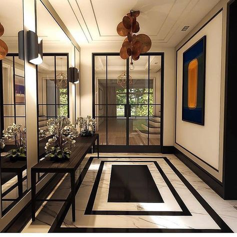 "Kristine Paige Kamenstein on Instagram: ""Dreamy entryway via @homestory_ahamajewska 😍 #designinspiration #ihavethisthingwithfloors #interiors #jacksonpaigeinteriors"""