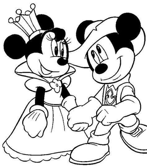 Imagens Da Minnie E Do Mickey Para Imprimir E Colorir Desenho