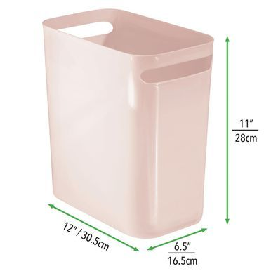 Small Plastic Slim Trash Can 12 High Pack Of 2 Trash Can