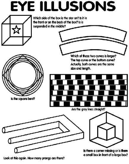Optical Illusions Optical Illusions Art Eye Illusions Optical Illusions For Kids Optical illusion worksheets