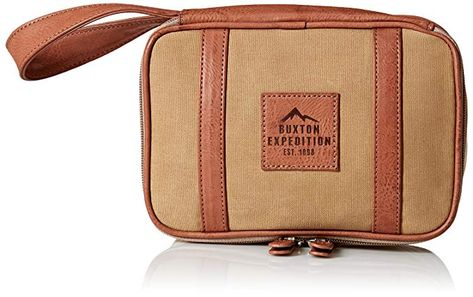 Buxton Men s Expedition Ii Huntington Gear Top Zip Canvas Travel Kit Review 5eb03a02c6d68