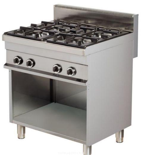 Cucina Gas 4 Fuochi Misure 80x70 Con Vano A Giorno Cucine Cucina Professionale Forno
