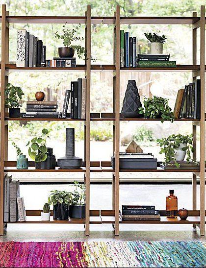 Stax Walnut Bookcase Reviews Cb2 Walnut Bookcase Bookcase Room Divider Shelves