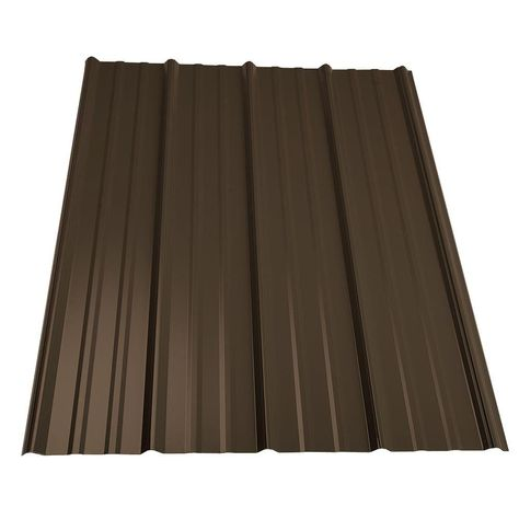 10 ft. Classic Rib Steel Roof Panel in Burnished Slate