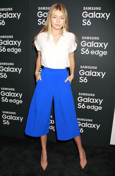 3b3b2e15668e Gigi Hadid. Gigi Hadid. More information. Five simple ways to make culottes  ridiculously flattering