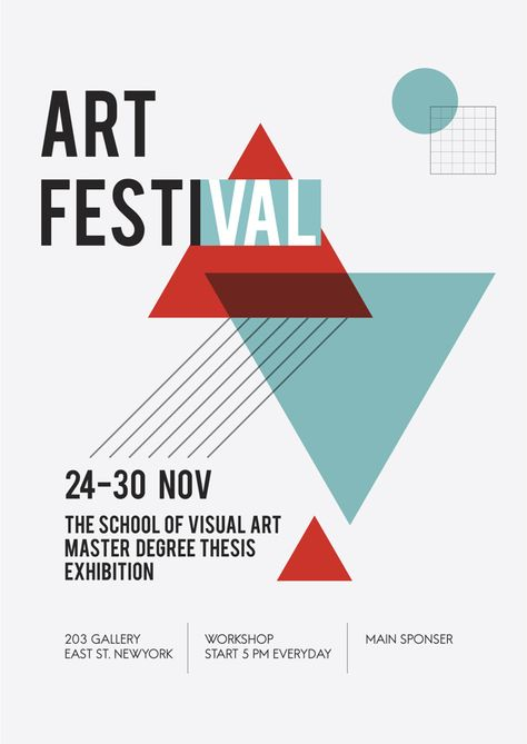 Download Illustration Of Art Exhibition Poster for free
