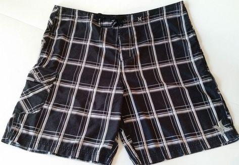 ca3f8cec4a Details about OP OCEAN PACIFIC Men's Board Shorts Swim Trunks Black Red  Plaid Size M (32-34) | Men's Bathing Suits | Swim trunks, Mens boardshorts,  Trunks