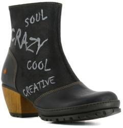 Ankle Boots With Heel 1231 Memphis Wax Black Oslo The Art Company Boots Womens Boots Ankle Heeled Boots