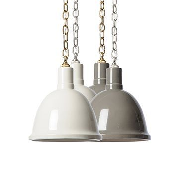 Hand Glazed Fire Ceramic Lights Featuring Chain Link Suspension In Clay And White Shop Now Scoutandnimble Com With Images Pendant Light Pendant Lighting Light