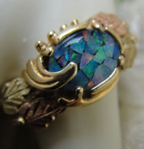 Opal Black Hills Gold Ring Price Reduced Black Hills Gold Rings Black Hills Gold Black Hills Gold Jewelry