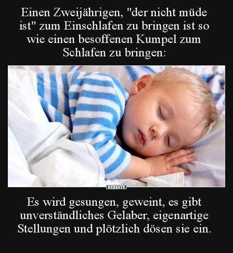 Einen Zweijährigen, der nicht müde ist zum Einschlafen