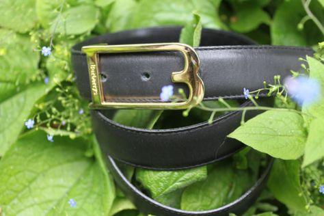 Burberry  real leather belt unisex black von treasuresmakeshappy