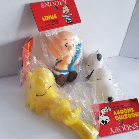 Reserved For Jamie Vintage Peanuts Vinyl Squeak Toy Woodstock Squeak Toy Dog Toys Toys