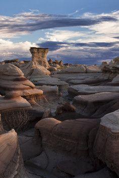 Bisti Wilderness in Farmington, New Mexico has unusual scenery.