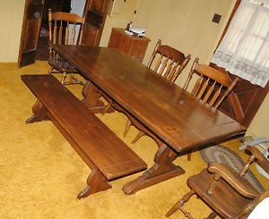 Ethan Allen Dining Room Set Early American 7 Pieces Dining Room