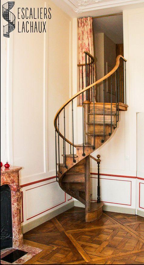 Escalier Colimacon Ancien Tout Bois Du Xixe De Petite Hauteur