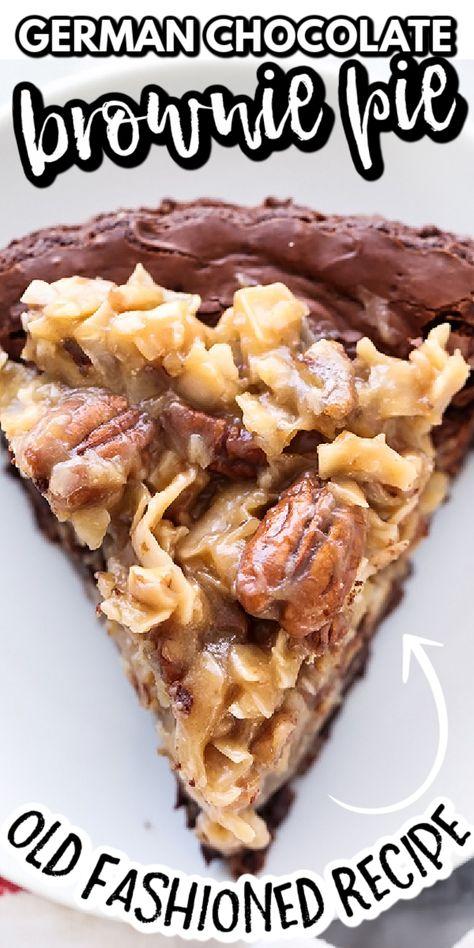Pie Recipes, Brownie Recipes, Sweet Recipes, Vegan Recipes, Candy Recipes, Muffin Recipes, Kitchen Recipes, Recipies, German Chocolate Brownies