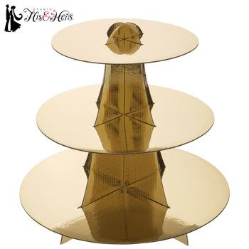 Gold Round Cupcake Stand Cupcake Stand Wedding Gold Cupcake