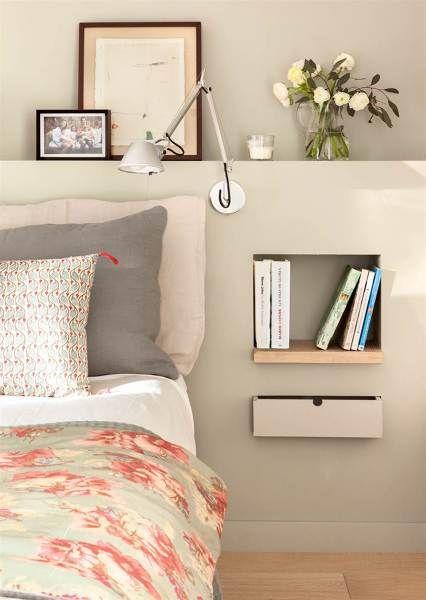 Testiera letto con comodino integrato in cartongesso ...