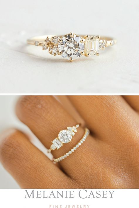 This Pink Morganite engagement ring rose gold HALO diamond wedding band bridal promise ring emerald cut Morganite ring half eternity band is just one of the custom, handmade pieces you'll find in our engagement rings shops.