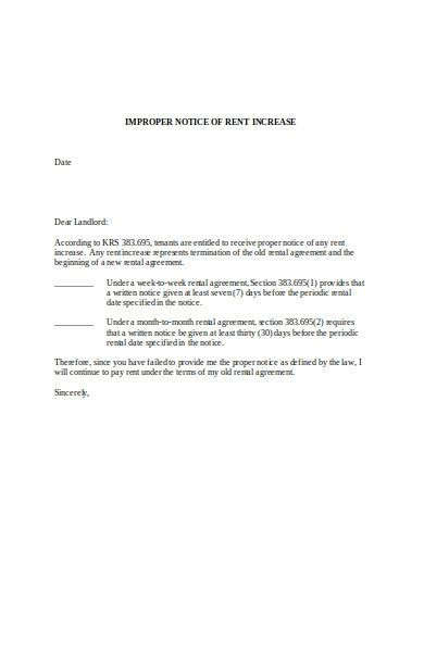 Rent Increase Letter In 2021 Professional Reference Letter Personal Reference Letter Letter Template Word