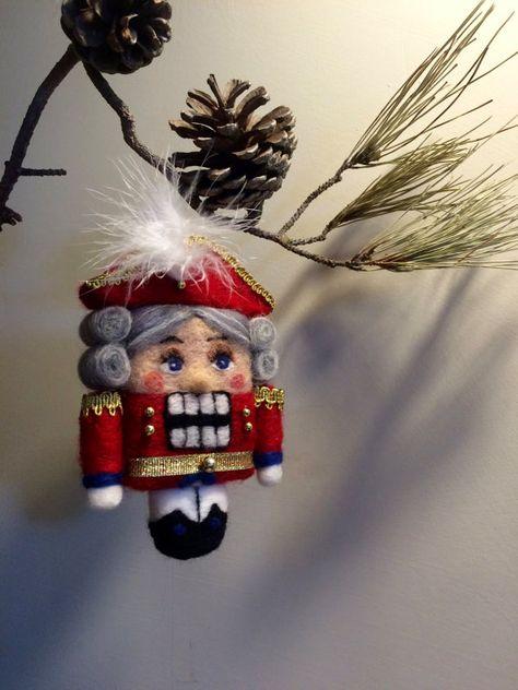 Needle felted doll Waldorf inspired Nutcracker Art от DreamsLab3