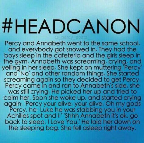 List of headcanons percabeth school images and headcanons