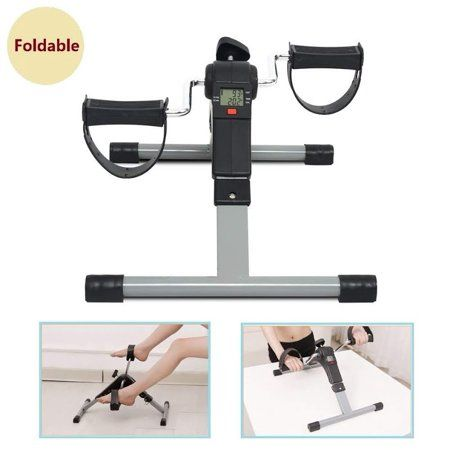 Folding Mini Pedal Exercise Bike Leg Arm Cycle Under Desk Fitness LCD Display